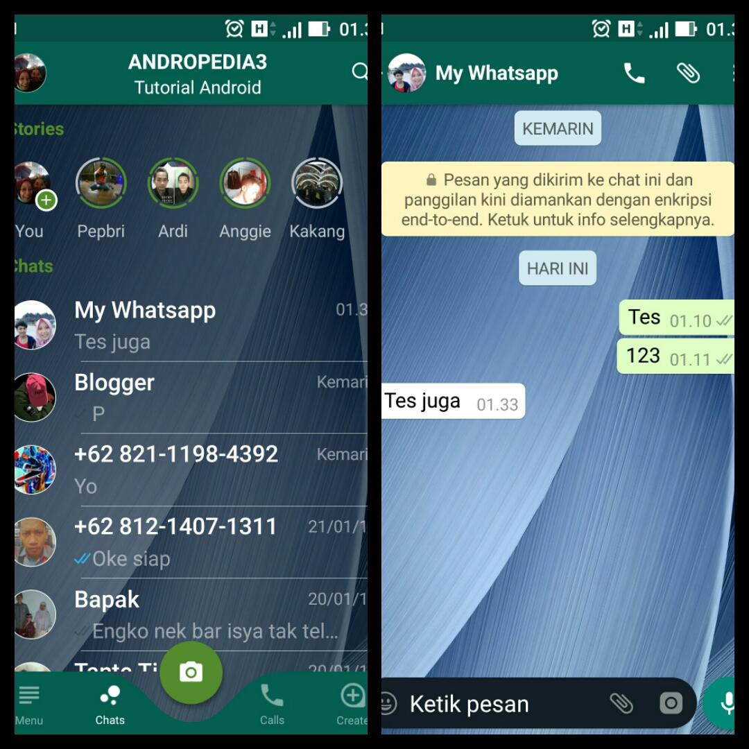 Cara Merubah Tampilan Whatsapp Menjadi Transparan