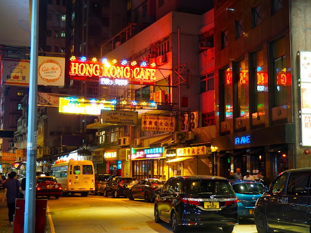 Lockhart Road - Busy streets of Wan Chai at night, Hong Kong