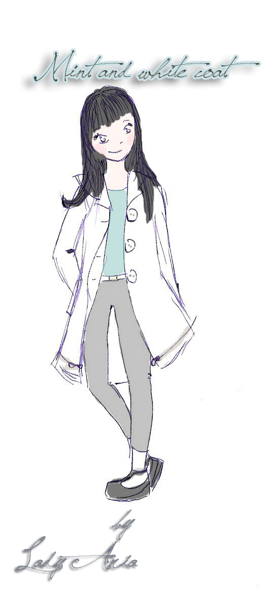 ~11 Mint and white coat