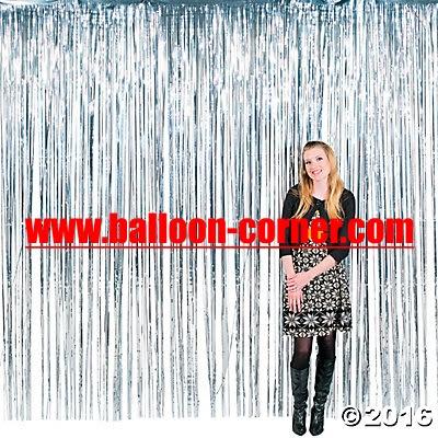 Silver Foil Curtain / Tirai Foil Silver