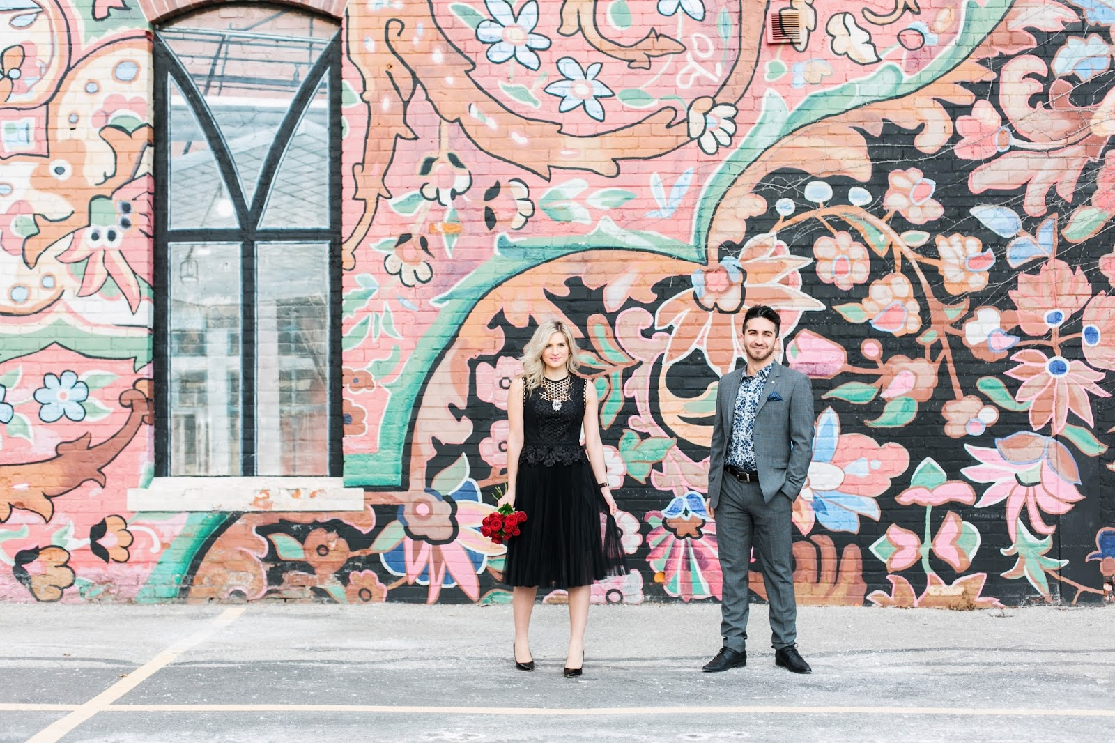 Bijuleni - Romantic Couple's Valentines Look with Ted Baker Suit and dress