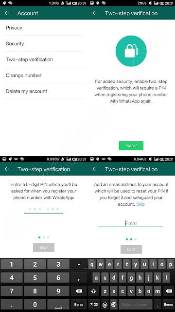 two-step-verification whatsapp untuk cegah pembobolan akun whatsapp
