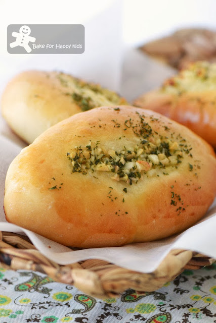 home baked garlic bread