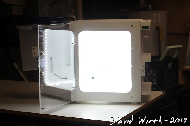 lighted led 3d printer case