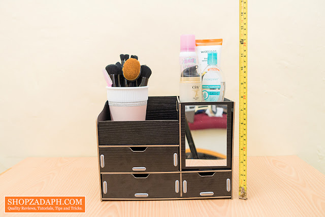 diy wooden makeup organizer actual size