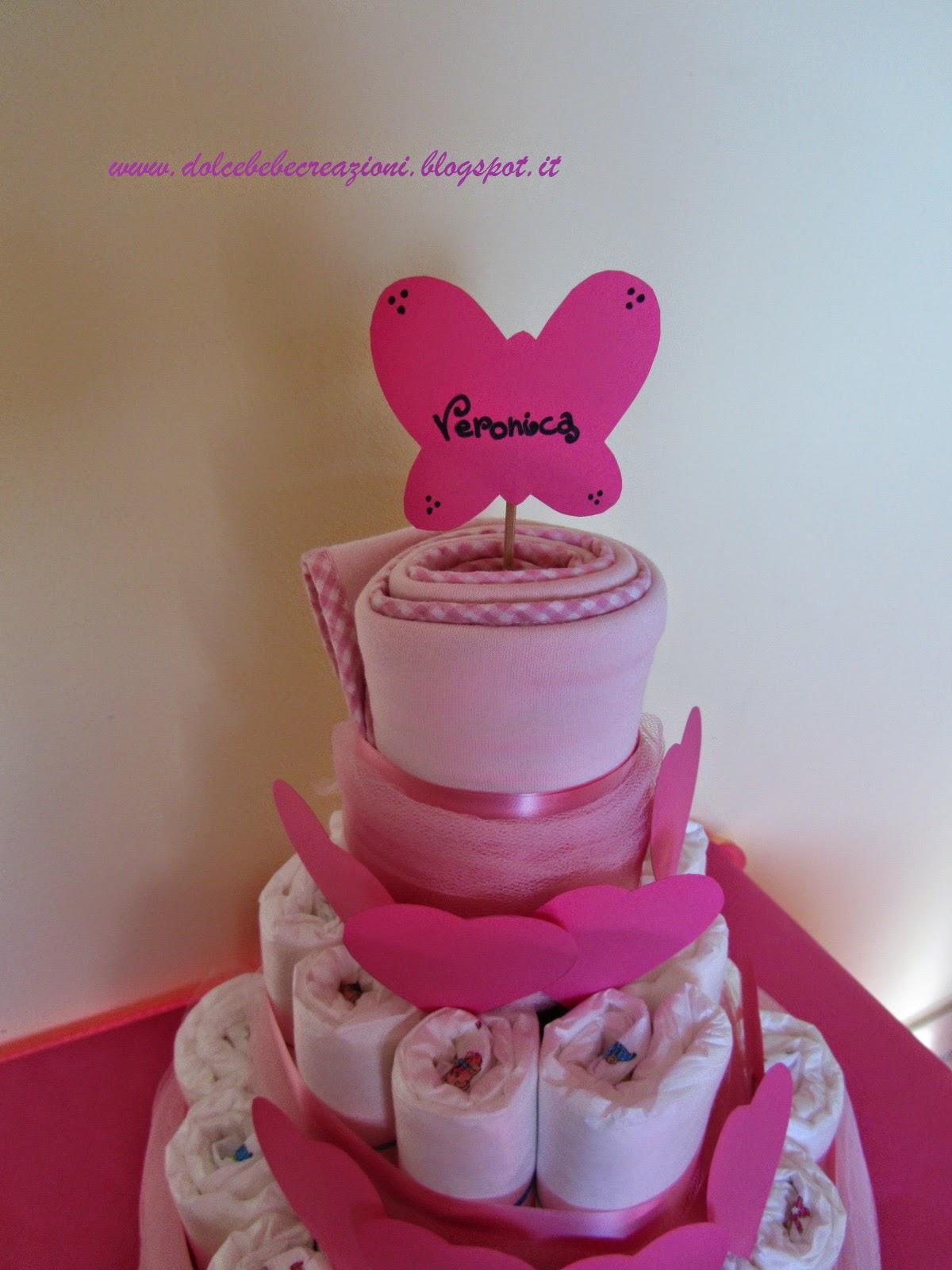Super Una torta di pannolini con i cuori | Dolce Bebè creazioni AL28