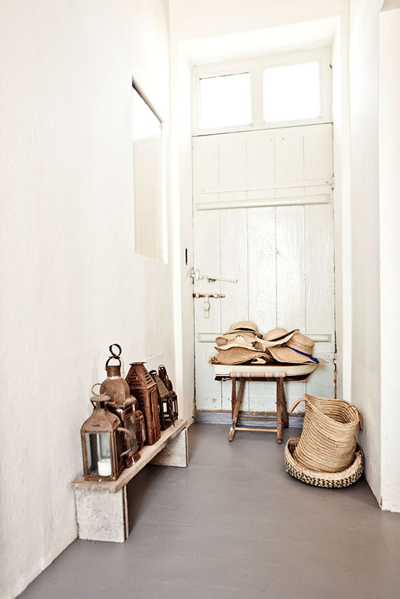 Modern country interior with concrete floor. Louise Desrosiers via Milk Magazine