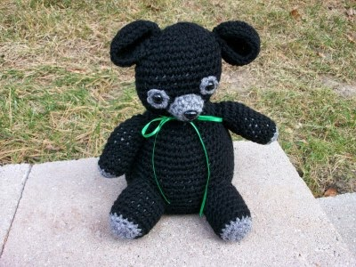 Handmade Black Bear Cub
