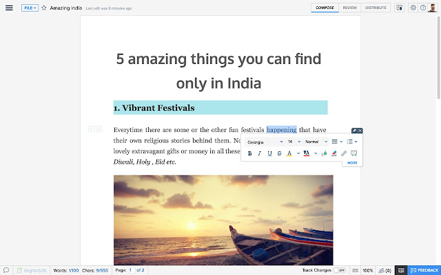 Download Zoho Writer CRX Extension for Chrome