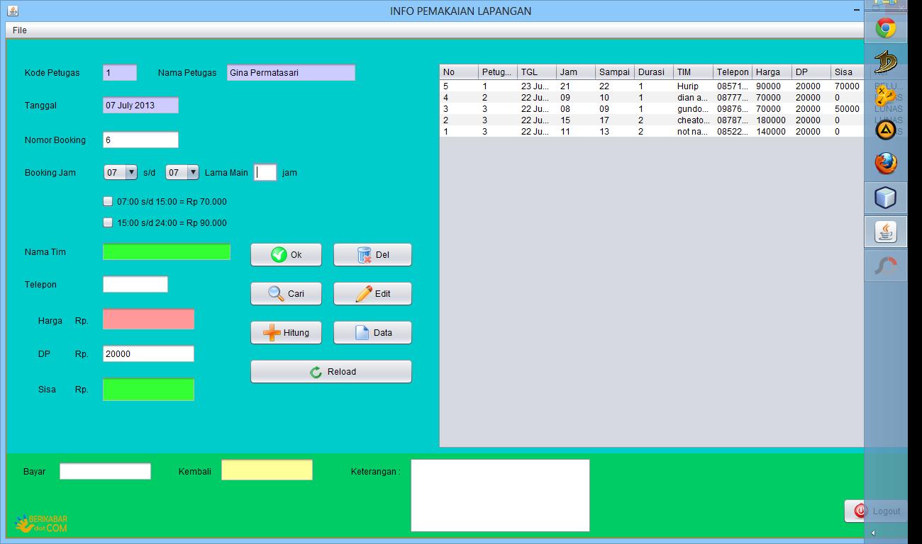 Aplikasi Booking Lapangan Futsal