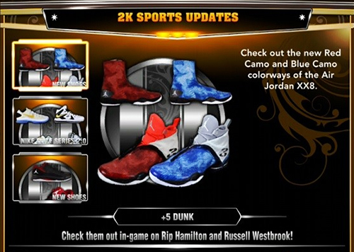 Red Camo and Blue Camo Colorways of Air Jordan XX8 NBA 2K13 ... eff6b3acad60
