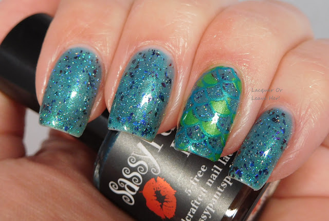 Sassy Pants Polish Mermaid Tails + UCB Mermaid Life & Hit The Bottle Polish Pool Party & Absinthe Minded