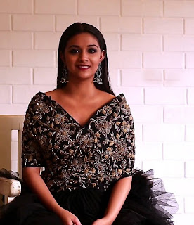Keerthy Suresh in Black Dress for Latest Photo Shoot
