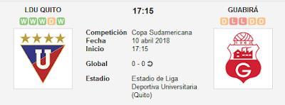 Liga de Quito vs Guabirá en VIVO