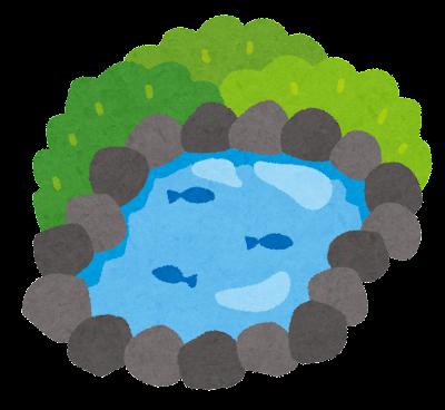 池のイラスト