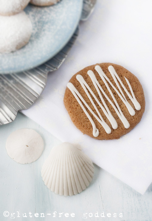 Iced Ginger Thins - Gluten-free cookies