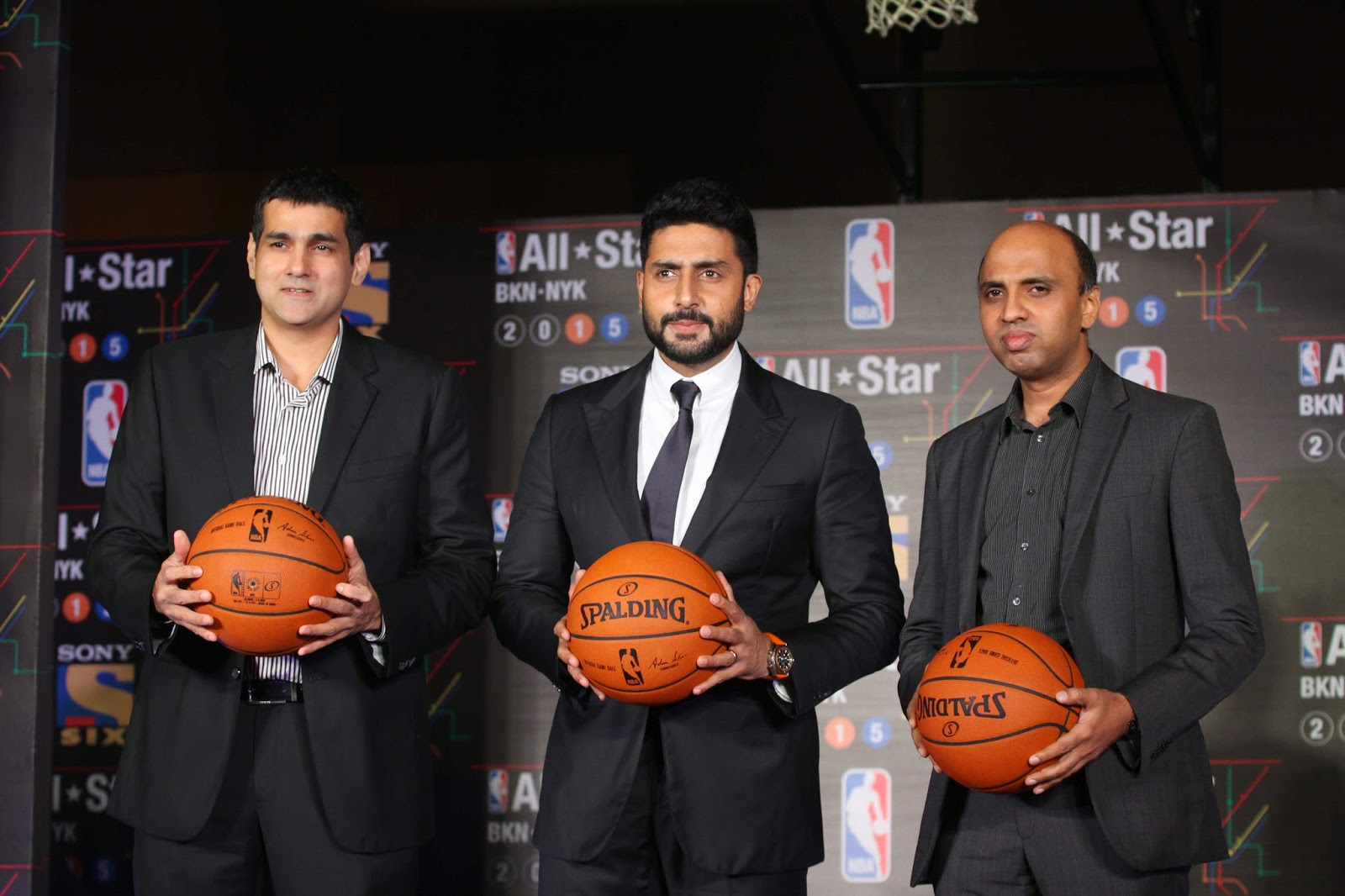 Abhishek Bachchan at NBA All Stars press meet