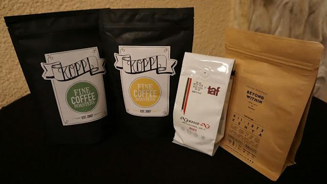 Kávy nakoupené na Baristovi roku