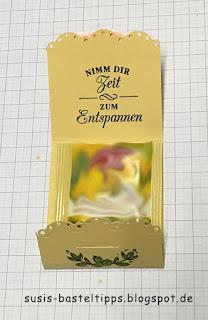 kleine Verpackung für einen Teebeutel als Geschenk diy stampin up demonstratorin coburg teezeit teepause mitbringsel falten