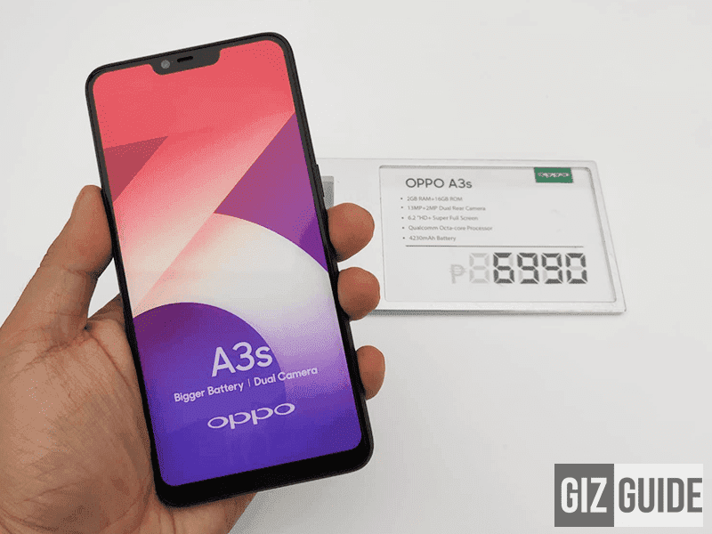 OPPO A3s - 10,927 hits as of writing