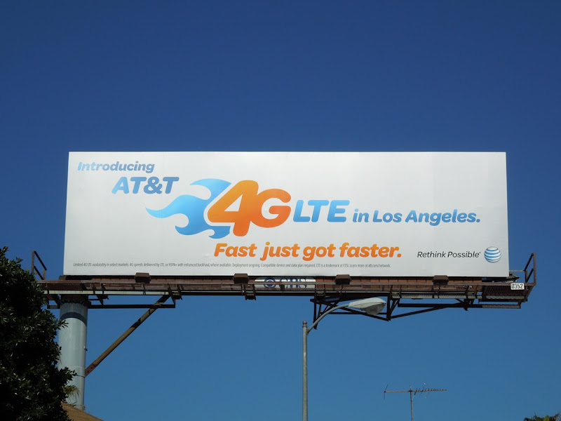 AT&T 4GLTE Los Angeles billboard
