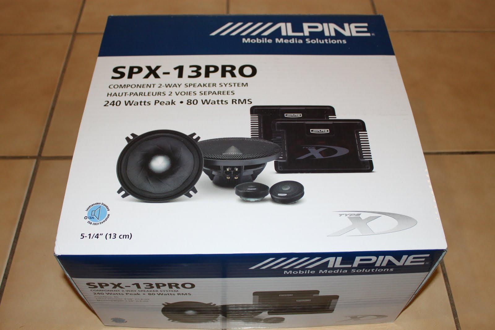Stereowise Plus Alpine Type X Spx 13pro 5 25 Quot Component