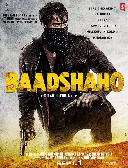 Baadshaho new upcoming movie first look, Poster of Ajay Devgn download first look Poster, release date