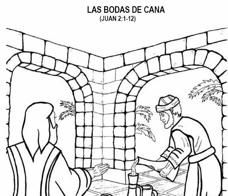 Imagenes Cristianas Para Colorear Las Bodas De Cana Para