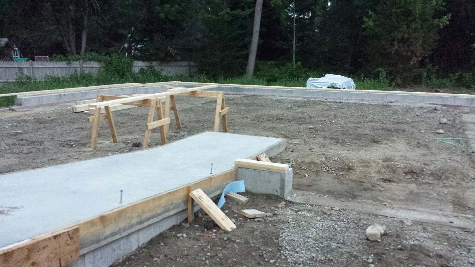 concrete laid and ready for the walls to be framed