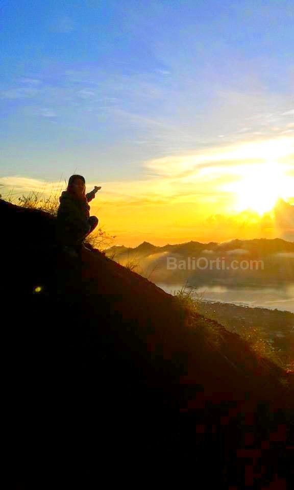 Mount Batur Bali in the morning