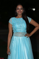 Pujita Ponnada in transparent sky blue dress at Darshakudu pre release ~  Exclusive Celebrities Galleries 129.JPG