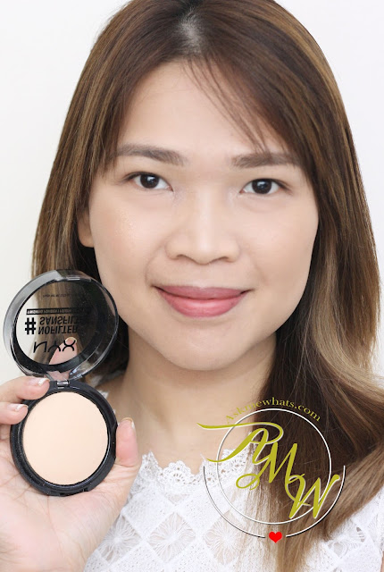 a photo of Nikki Tiu AskMEwhats wearing NYX #NoFilter Finishing Powder in Porcelain