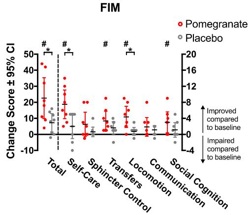 図:ザクロサプリメントの脳梗塞治療効果