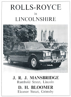 J R J Manbridge Rolls Royce 1968 advert