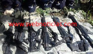 Hallan arsenal escondido en un cerro del Estado de Guerrero