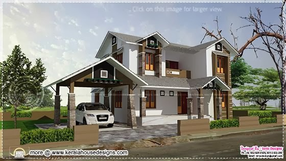 2109 sq-ft house elevation
