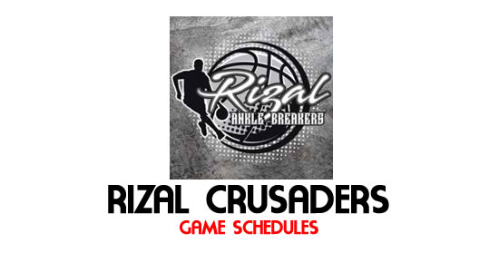 LIST: Game Schedule Rizal Crusaders 2018 MPBL Anta Datu Cup