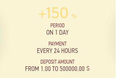 Инвестиционные планы Earning 150