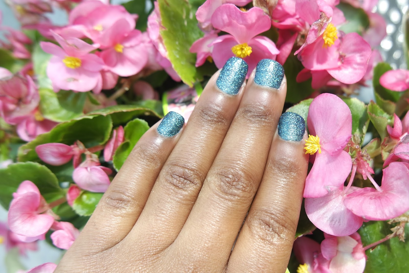Tashika Bailey | Mineral Crush Turquoise Nails