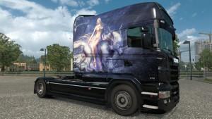 Scania RJL Longline Fantasy Girl skin