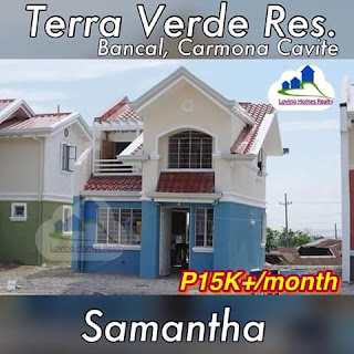SAMATHA SINGLE ATTACHED - TERRAVERDE RESIDENCES AFFORDABLE HOUSE AND LOT SALE RENT TO OWN CAVITE