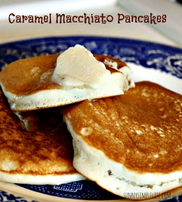 caramel macchiato pancakes