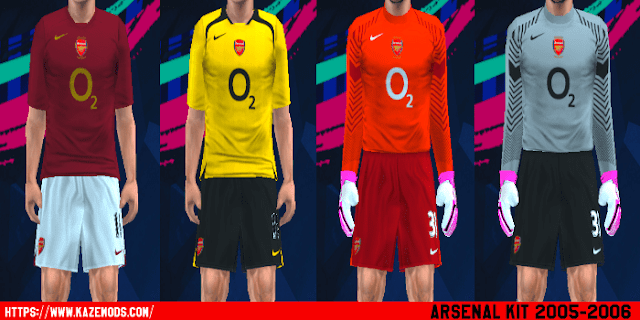 Arsenal 2005 06 Kits PES 2014 PSP (PPSSPP) bc7024784