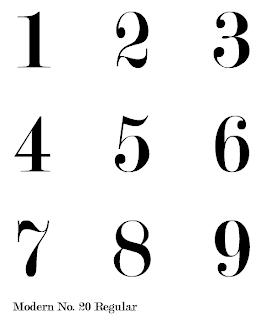 design practice: typeface ideas (numbers)
