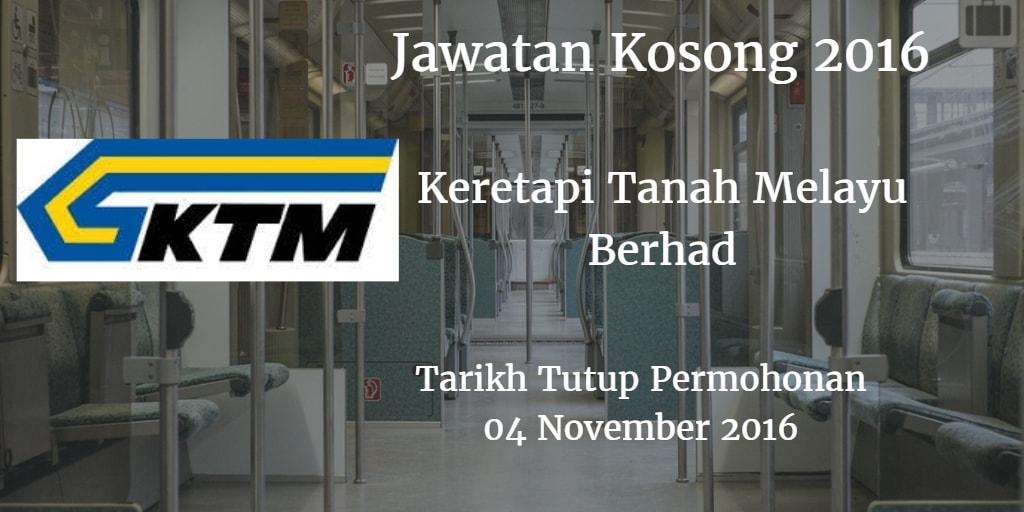 Jawatan Kosong KTMB 04 November 2016