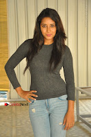 Actress Bhanu Tripathri Pos in Ripped Jeans at Iddari Madhya 18 Movie Pressmeet  0049.JPG