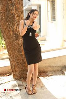 Actress Poojitha Pallavi Naidu Stills in Black Short Dress at Inkenti Nuvve Cheppu Movie Platinum Disc Function  0280.JPG