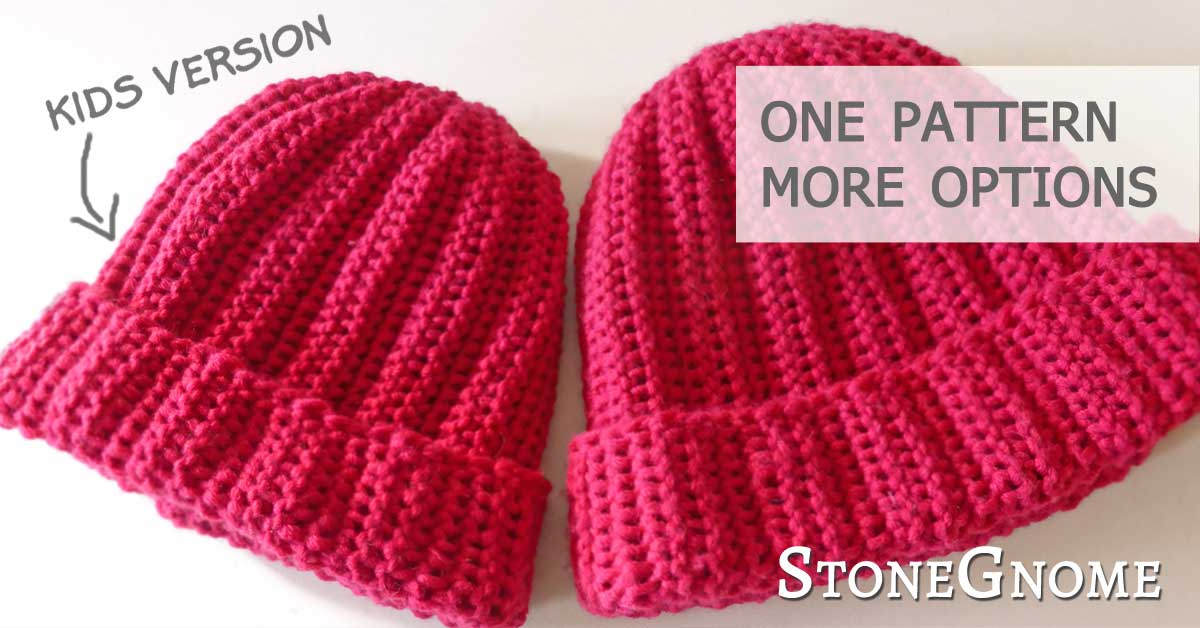 Sideways Ribbed Hat - Kids version - StoneGnome