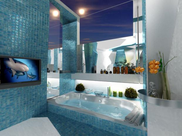 Dois Projetos De Banheiro No Estilo Futurista Decorao