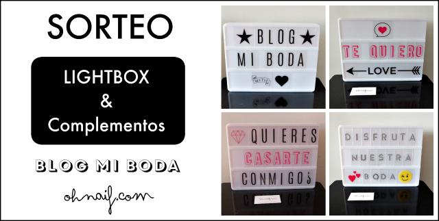 sorteo lightbox caja de luz blog de bodas